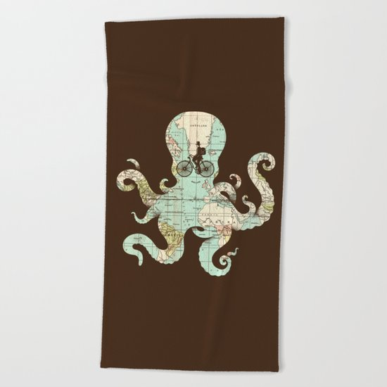 All Around The World Beach Towel