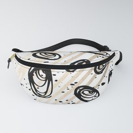 The Visitors - Black White and Gold Fanny Pack