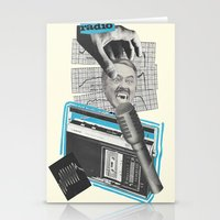 radio Stationery Cards featuring Radio by collageriittard