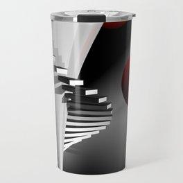 go upstairs -2- Travel Mug