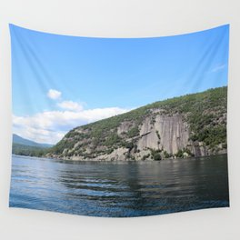 Summer's End: Roger's Rock on Lake George Wall Tapestry
