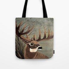 Buck with big racks  Tote Bag