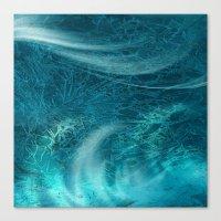 aqua Canvas Prints featuring aqua by haroulita