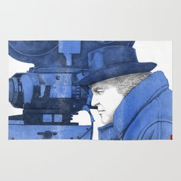 "Fellini ""blue"" Rug"