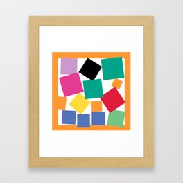 Square Elephant Framed Art Print
