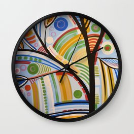 Abstract Art Original Landscape Painting ... The Sound of Sunshine Wall Clock