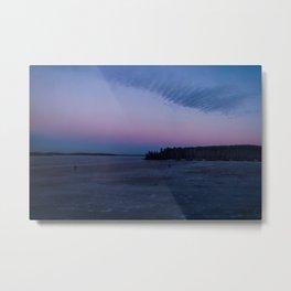 Siberian Ice Lake Metal Print