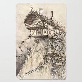Steampunk House Cutting Board