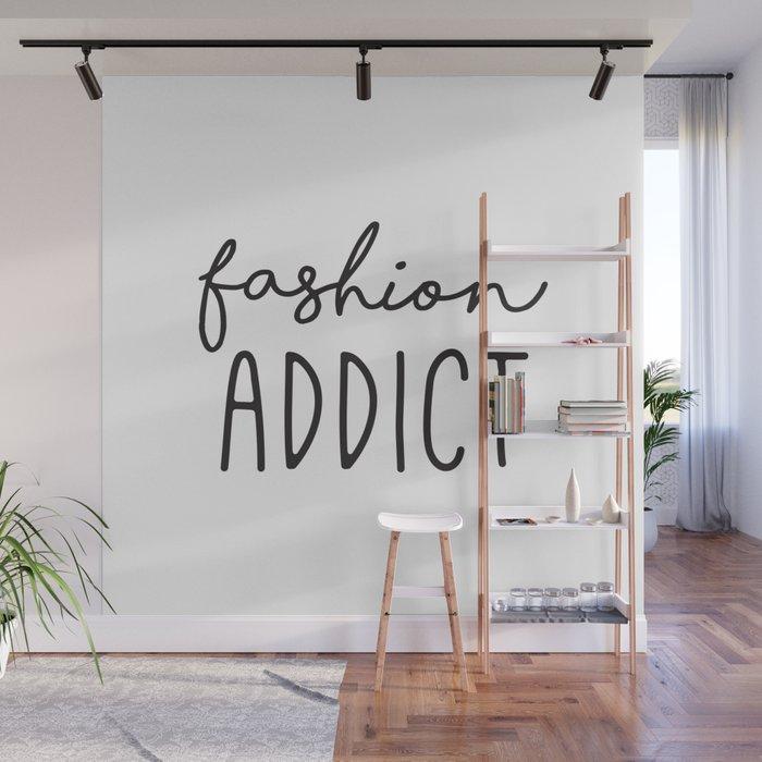 Teen Girls, Room Decor, Wall Art Prints, Fashion Addict, Affordable Prints,  Fashion Quotes Wall Mural by radquoteshop