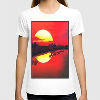 duvet cover T-shirts featuring Sunset duvet cover by customgift