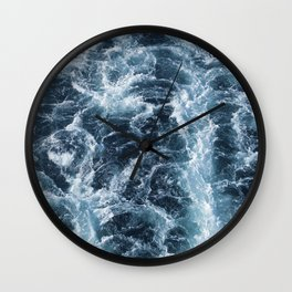 Sea Blue Wake - Pacific Ocean Wall Clock