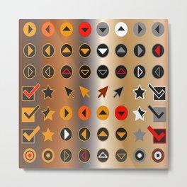 Symbology 4 Metal Print