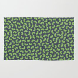 Green Bacteria Pattern Rug