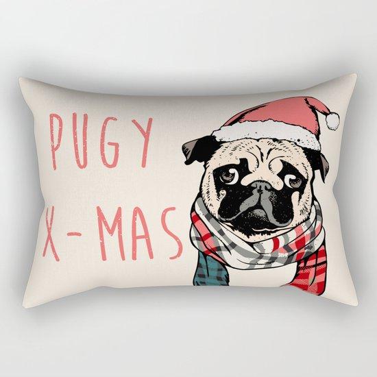 Pugy X-Mas Rectangular Pillow