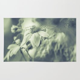 Monochromatic sunflowers Rug