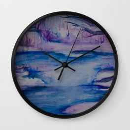 Frosty Winter Dreams. Wall Clock