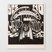 ouija Canvas Prints featuring Ouija by Anke Verret