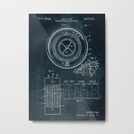 1978 - Modern roulette game patent art Metal Print
