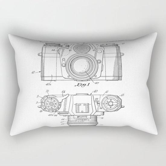 Camera Patent Drawing Rectangular Pillow