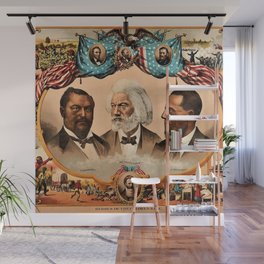 1881 African American 'Heroes of the Colored Race' Library of Congress Print Poster Wall Mural