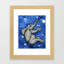 The Drowning Elephant Framed Art Print