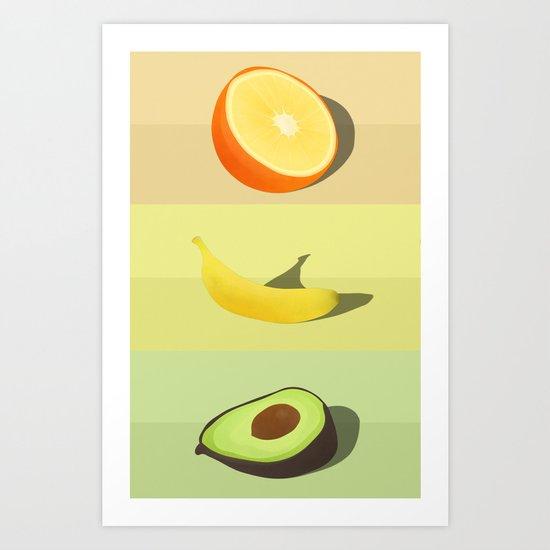 FRUITTRIO Art Print