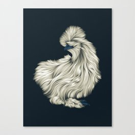 Fluffy Silkie Chicken Canvas Print