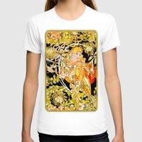 mucha T-shirts featuring Marguerite's Bower, Mucha by Vintage Era Art