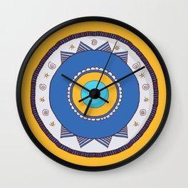 """Ein El Hasoud"" Illustration   Wall Clock"
