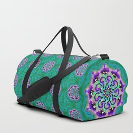 Spider Eye Mandala - Green BG Duffle Bag