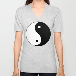 Yin and Yang BW Unisex V-Neck