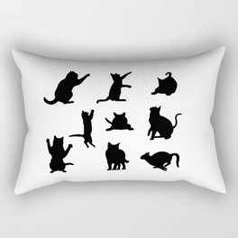 Cat Silhouette Rectangular Pillow