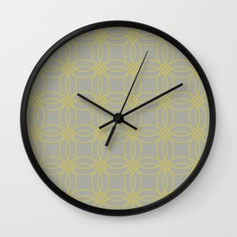 Simply Vintage Link in Mod Yellow on Retro Gray Wall Clock