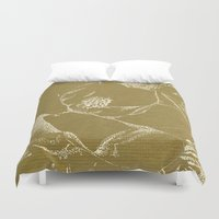magnolia Duvet Covers featuring Magnolia by Anchobee