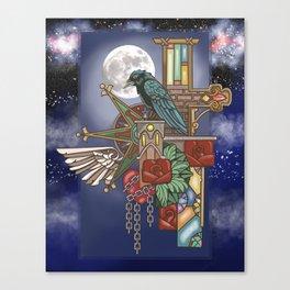 Ravens Moon Canvas Print
