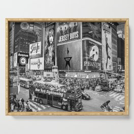 Times Square II (B&W widescreen) Serving Tray
