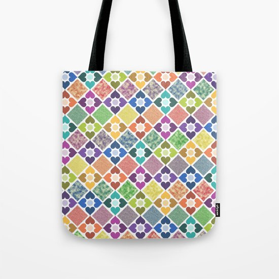 Colorful Floral Pattern III Tote Bag