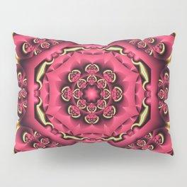 Fantasy flower kaleidoscope with optical effects Pillow Sham