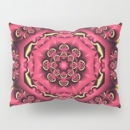 Fantasy flower kaleidoscope with optical effects Pillow Sham
