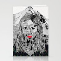 cara Stationery Cards featuring Cara by Veronique de Jong · illustration