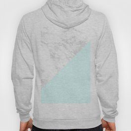 White Marble with Pastel Blue and Grey Hoody
