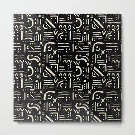 Heiroglyph in black Metal Print