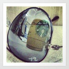 Aviator Starbucks Art Print