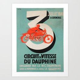Critérium du Dauphiné Art Print