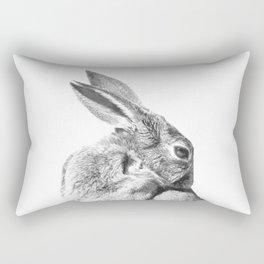 Black and white rabbit Rectangular Pillow