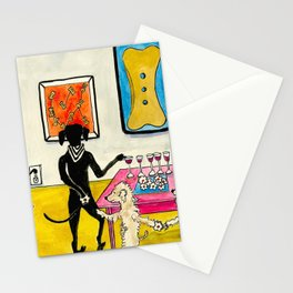 At The Art Exhibition Opening Stationery Cards