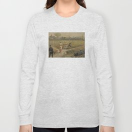 Vintage Painting of a Baseball Game (1887) Long Sleeve T-shirt