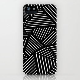 Ab Linear Zoom Black iPhone Case