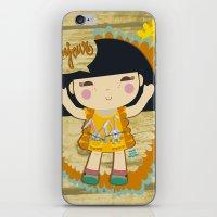 bonjour iPhone & iPod Skins featuring Bonjour by maru y su cabeza