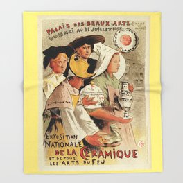French belle epoque pottery expo advertising Throw Blanket